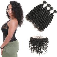 China No Shedding Genuine Virgin Brazilian Hair Extensions Kinky Curl 8 To 28 Inches wholesale