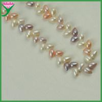 China Wholesale price mix color drop shape fresh water pearl bead necklace chain wholesale