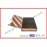 China Magnetic Handmade Luxury Apparel Gift Boxes Covering With Golden Silk wholesale