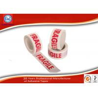 China Custom Printed Warning Bopp Packing Tape For Fragile Products Packaging wholesale