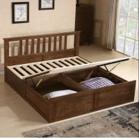 Rustic Cherry Solid Wood Twin Bed Frame , Antique Style Black Wood Bed Frame