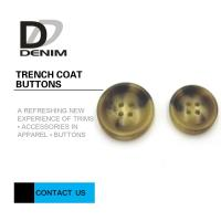 China Big Size Bright Color Bulk Trench Plastic Horn Coat Buttons High Wear Resistance With Sewing Hole wholesale