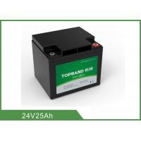 China 24V 25Ah Medical Device Battery , Medical Cart Battery Deep Cycle wholesale