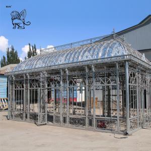 China square cast iron garden gazebo metal craft luxury wedding decoration wholesale