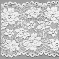 China 5-inch Wide Elastic Lace with Floral Pattern and Dyeable Material wholesale