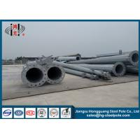 China Steel Tapered Q235 Polygonal Power Transmission Poles With Hot Dip Galvanized 15m wholesale