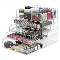 Quality NEW! DELUXE MAKEUP ORGANIZER - ACRYLIC 5 TIER DRAWER COSMETIC DISPLAY CASE for sale