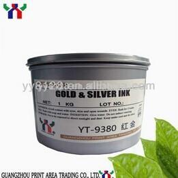China YT-9380 Gold &Sliver Soy Offset Printing Ink on sale