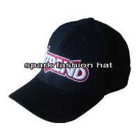 China Promotional 6 panel spandex fitted baseball hat with embroidery logo wholesale