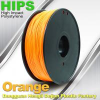 China Markerbot , Cubify  3D Printing Materials HIPS Filament 1.75mm / 3.0mm Orange Color wholesale