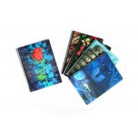 Quality 0.6Mm Thickness Plastic Cover 3D Lenticular Spiral Notebooks 80 Pages for sale
