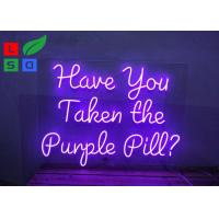 China Custom Hanging Colorful Acrylic Purple Logo Led Neon Signs For Nightclub Decoration wholesale