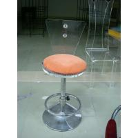 China Custom Clear Modern Acrylic Bar Stool With Adjustable Metal Leg wholesale