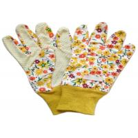 China Yellow Twill Working Hands Gloves Breathable Protecting Against Abrasion on sale