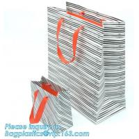 China White Kraft Paper Bag 20cm Eco Retail Packaging on sale