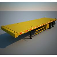 China 13 meters gooseneck 45ft flatbed container transport trailer  two axles  three axles container chassis wholesale