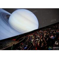 China Giant 4D Dome Cinema With Snow And Raining Effect Hemispherical Ball Curtain Screen wholesale