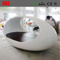 China Egg Shape Fiberglass Bed Stylish White Double Bed Fiberglass Made Outdoor and Indoor Bed wholesale
