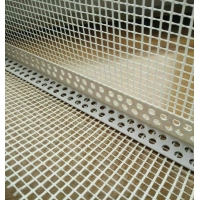 China White color Plastic Corner bead with good quality fiberglass mesh used for wall corner wholesale