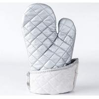 China Washable Silver Oven Gloves , Heat Proof Kitchen Gloves Heat Transfer Printing wholesale