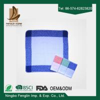 Buy cheap Strong Absorption Kitchen Tea Towels White and Blue Checker Dish Towels 35*55cm from wholesalers