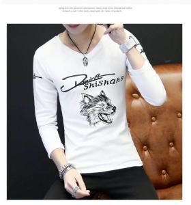 China Custom Full Hand Designer Plain Mens Long Sleeve T shirt wholesale