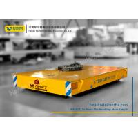 China Armored Line Powered Workshop Rail Transfer Cart / Industrial Material Handling Carts wholesale