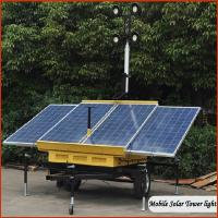 Quality LED mobile solar portable light towers DC24V with Solar System for sale