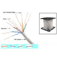 Buy cheap Telecommunication Cat6 UTP Cable 350MZ Ethernet 0.56mm Twisted pair with Drain from wholesalers