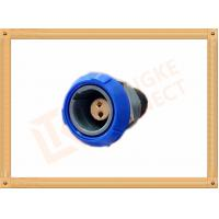 China Push Pull 2 Pin Circular Connector Self Locking / Double Reed Locked wholesale