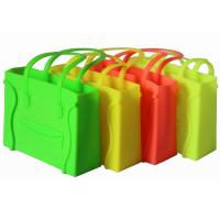 China Colorful Candy Silicone Tote Bag , Beach Bag With Smiling Face wholesale