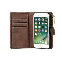 China Classic iPhone 8 Plus Wallet Leather Case / Ultra Strong Magnetic Closure Wallet wholesale