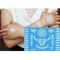China White Color Henna Temporary Tattoo Stickers , Body Jewelry Tattoo Stickers wholesale