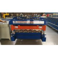 China 4 Kw Hydraulic Cutter Glazed Tile Roll Forming Machine 1220mm Coil Width wholesale