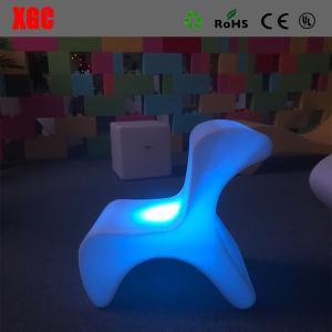 China PE stool Modern Changeable Color Bar Stool  Child Stool  Led  Stool wholesale