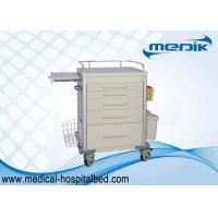 China ABS Medical Supply Carts , Mobile Ambulance Trolley For Nurse on sale