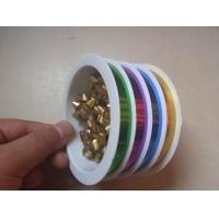 China 4 Channels Present Wrapping Ribbon 10mm 5m For Mixed Color Products Packing wholesale