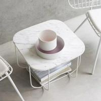 China White Simple Marble round square dining table tops for Hospitality furniture wholesale