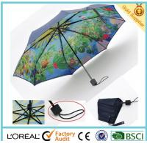 China 2016 Hot Sale Fashion 3 Folding Umbrella for apparel accessory brands wholesale