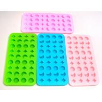 China Food Grade Flexible Silicone Icing Moulds for Hardness 38 - 42 HA wholesale