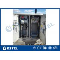 "China 2 Bay Galvanized Steel Outdoor Telecom Cabinet 1000W Cooling Capacity With 19""Mounting Rack wholesale"
