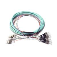 Buy cheap Pre terminated OM3 break out FC to ST ribbon 6 fiber optic patch Cord from wholesalers