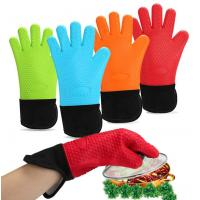 China High Temp Long Side Opening Silicone Hand Gloves Sleeve Design Easy Cleaning wholesale