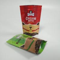 China Ziplock Foil Pouch Packaging Pet Food Bag 120 Micron Thickness With Clear Window wholesale