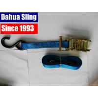 China Iron Handle Ratchet Tie Down Straps , 1500kgs Cargo Ratchet Straps With S hook wholesale