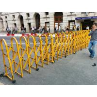 China Powder Coated Aluminium Safety Accordion Barrier Gate For Crowd Control With Brakes wholesale