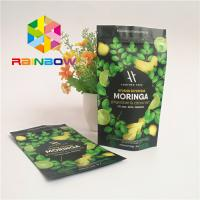 Stand Up Ziplock Plastic Pouches Packaging Aluminum Foil Lined Matcha Powder