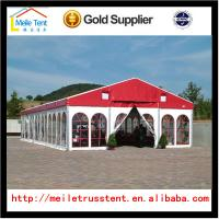 China 10x30m white Reinforced pvc fabric high peak tent roof top polygonal tent for 300 people on sale