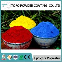China Hammer Texture Metallic Red Powder Coat, Reliable Powder Coated Paint For Metal on sale