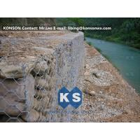 China Monolithic Galvanized Iron Wire Hexagonal Welded Mesh Gabions Retaining Wall wholesale